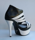 Black and White Leather Sandal 4