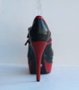 Tongue Black and Red Leather Pump 4