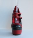 Racing Stripes Black and Red Leather Pump 10