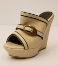 Beige and Black Artificial Leather Slip On 11