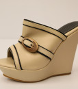 Beige and Black Artificial Leather Slip On 12