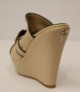 Beige and Black Artificial Leather Slip On 3