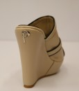 Beige and Black Artificial Leather Slip On 5