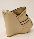 Beige and Black Artificial Leather Slip On 6