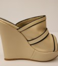 Beige and Black Artificial Leather Slip On 7