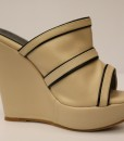 Beige and Black Artificial Leather Slip On 8