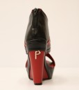 Black and Red Artificial Leather Wedge Sandal 3