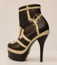 Chocolate Brown and Beige Artificial Leather Bootie 2