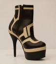 Chocolate Brown and Beige Artificial Leather Bootie 7